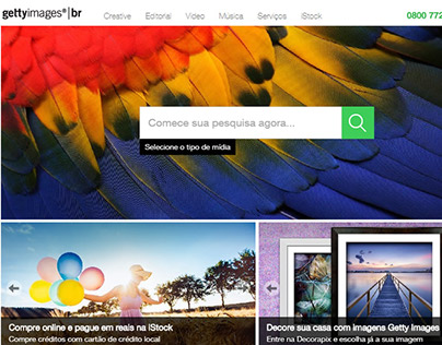 Website Getty Images Brasil
