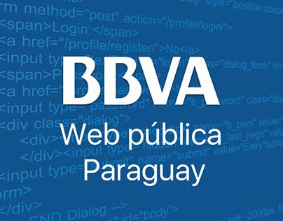 Web pública BBVA Paraguay