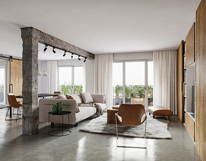 Minimalist apartment interior