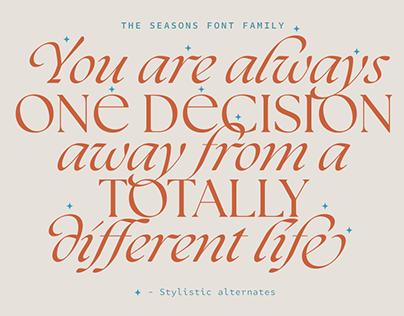 The Seasons Serif Font Family