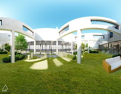 VR 360° Panoramic Render - External Court