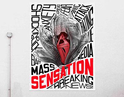Stop the cheap sensation! A media crisis poster.