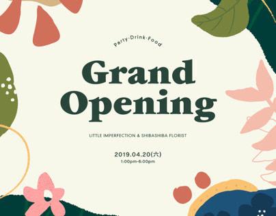 LittleImperfection & ShibashibaFlorist's Grand opening