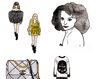 AN ODE TO FASHION (ILLUSTRATIONS)
