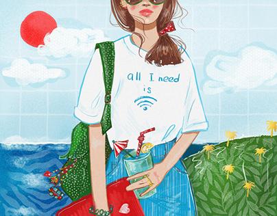 Freelance girl