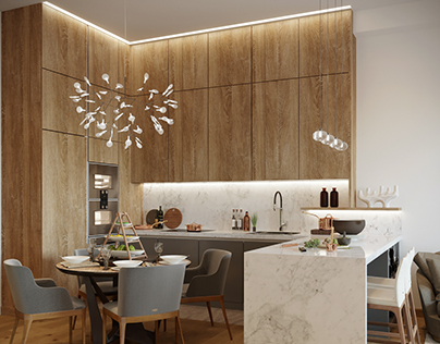Residential apartment 3d visualization