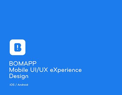 Bomapp mobile UX/UI eXperience Design