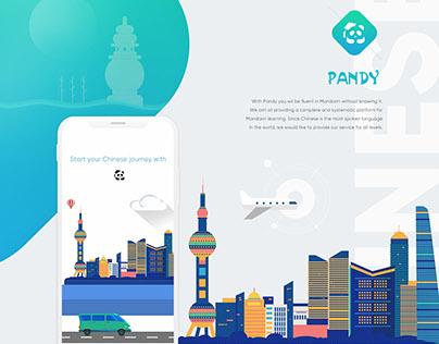 App design | Pandy Chinese Mandarin learning app - 2017
