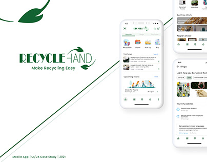 RecycleHand App   UI/UX