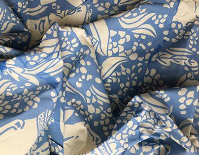 Silkscreen Pothead Fabric