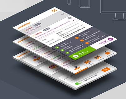 Netrisk Piactér - responsive webdesign