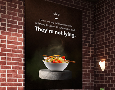 slice - They're not lying ad campaign