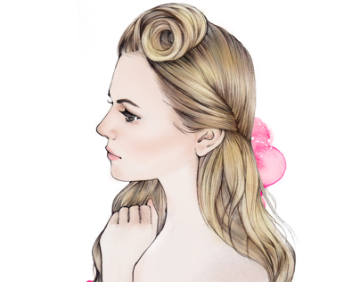 Hair_fashion illustration