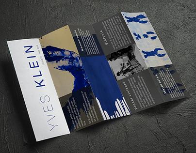 Folleto Yves Klein