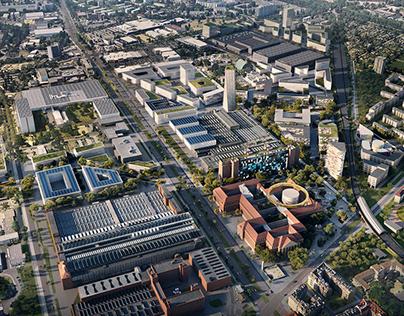 Siemensstadt Aerial   Masterplan by UNStudio