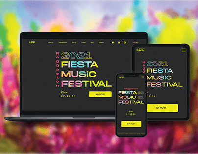 Landing page for Fiesta Music Festival 2021