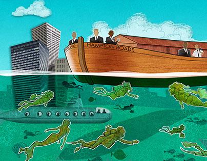 Virginia Business Magazine - various illustrations