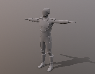 Low poly player character