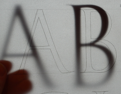 Digitizing letters and making a font for Eric Marland.