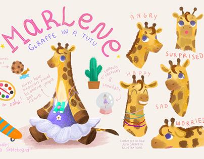 Marlene (Giraffe in a tutu) Character design