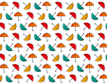 Set of animated patterns in the flat style