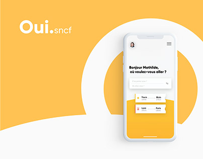 Redesign Oui.sncf app