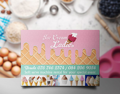 Ice Cream Ladies Flyer Design and Printing