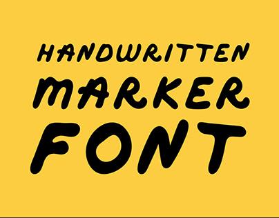 Handwritten Marker Font