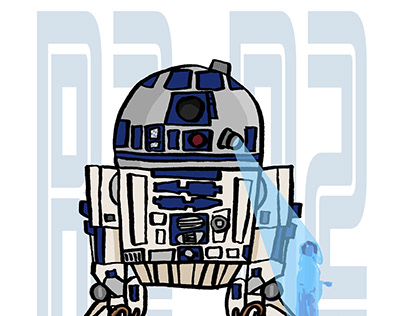 R2-D2 Leia hologram ver. ILLUSTRATION