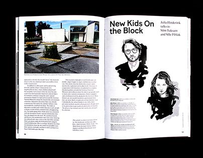 Estonian Art Magazine. Portrait Illustrations.