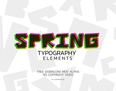 Typography elements A-Z Spring