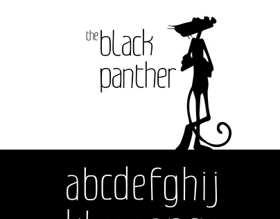 Typographie : Black Panther