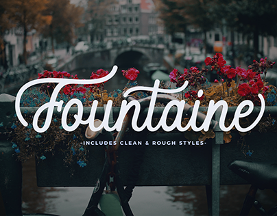 Fountaine Script With Clean And Rough Styles