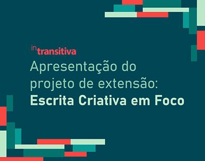 Vídeo de apresentação do Escrita Criativa em Foco