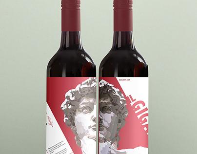 The David Wine Label - Il Gigante