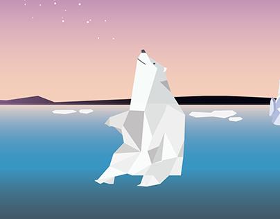 Low Poly - Polar Bears