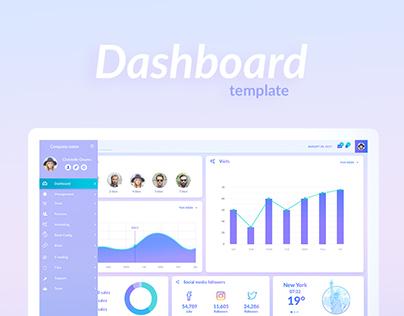 Dashboard template