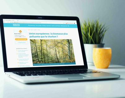 Rédaction d'articles pour Selectra.info