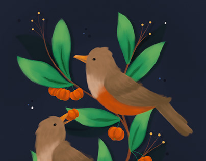 pássaros & pitangas