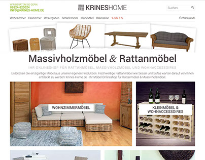 Home & Living E-Commerce Web Design