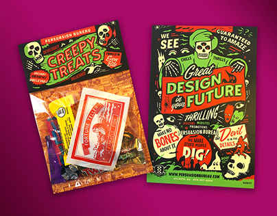 Creepy Treats Promo Retro Candy Packaging