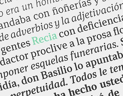 Recia Typeface