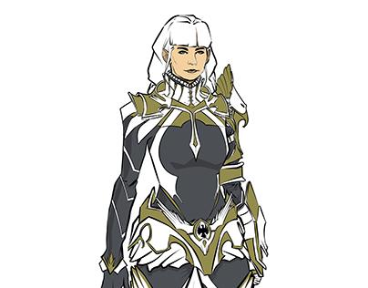 Character Design- Female fighter