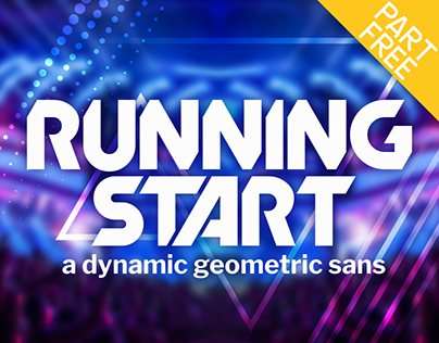 Running Start: a Dynamic Geometric Sans