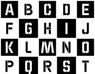 WOK-STENCIL-CAPS Font