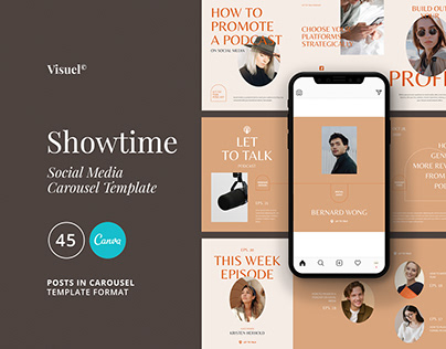 Showtime Carousel Template | CANVA & PS