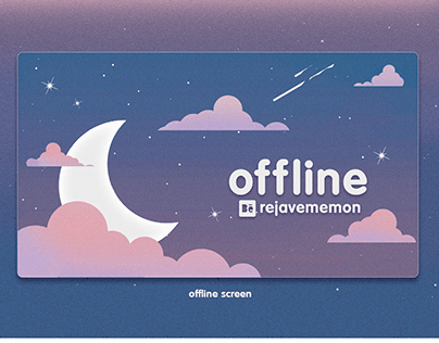 Twitch Stream Overlay Package - Cute Night Sky Theme