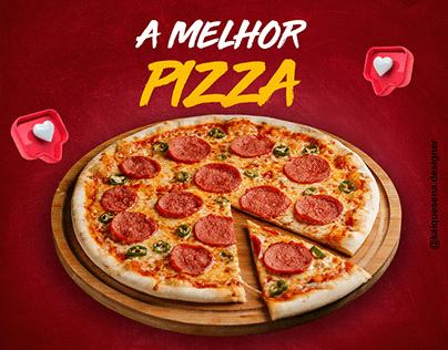 Post de pizzaria para redes sociais