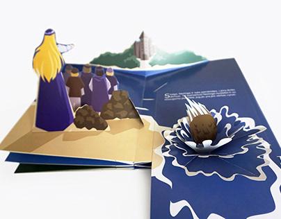 """Pop-up erdvinė knyga """"Legenda apie Neringą"""""""