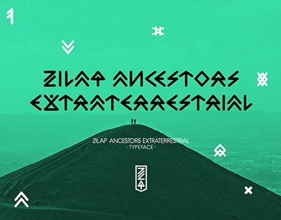 Zilap Ancestors Extraterrestrial Typeface